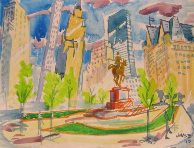 11x14_David_Baise_Grand_Army_Plaza_andNew_Sculpture_Setting_11x14_WC_2015.jpg