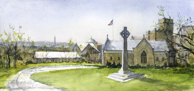 Lindley-Peace-Cross-at-St-Albans-Spring-10x21-watercolor.jpg