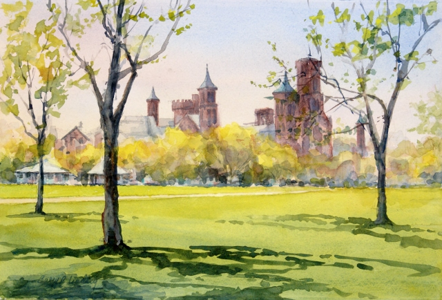 Lindley_Smithsonian_Castle_in_Spring_15x22_watercolor_.jpg